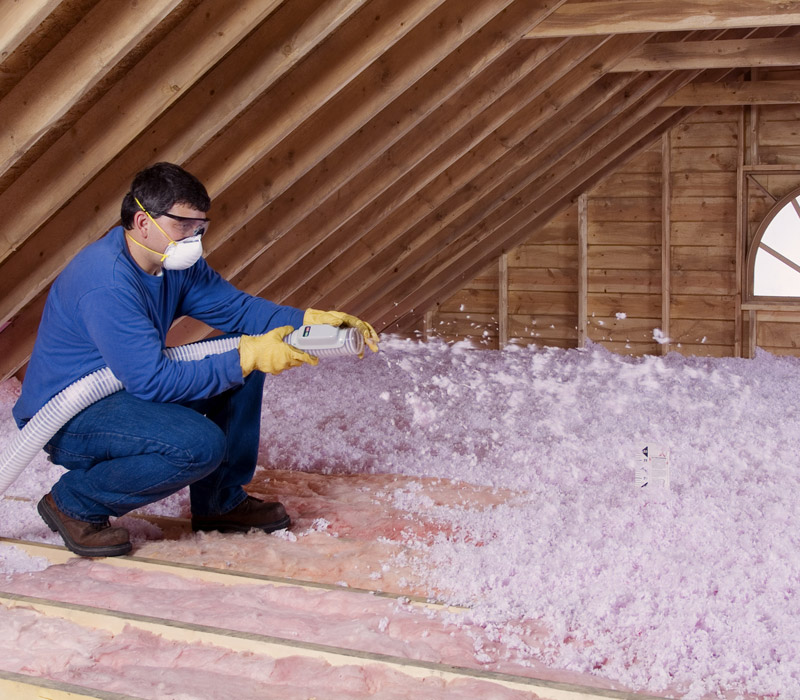 Owens Corning blown-in fiberglass insulation
